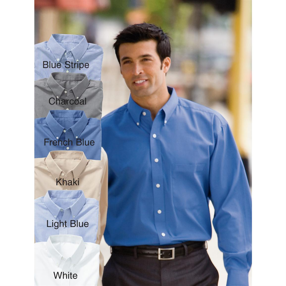 Men's River's End Easy-Care Pinpoint Long-sleeve Shirt