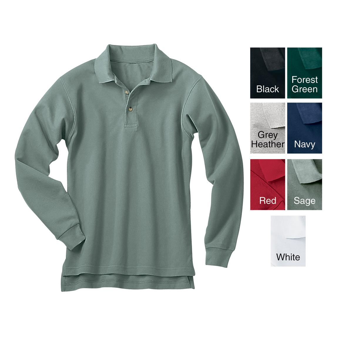 Men's River's End Long-sleeve Pique Sport Shirt