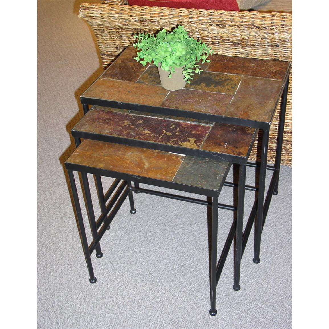 3-Pc. 4D Concepts Slate-top Nesting Tables