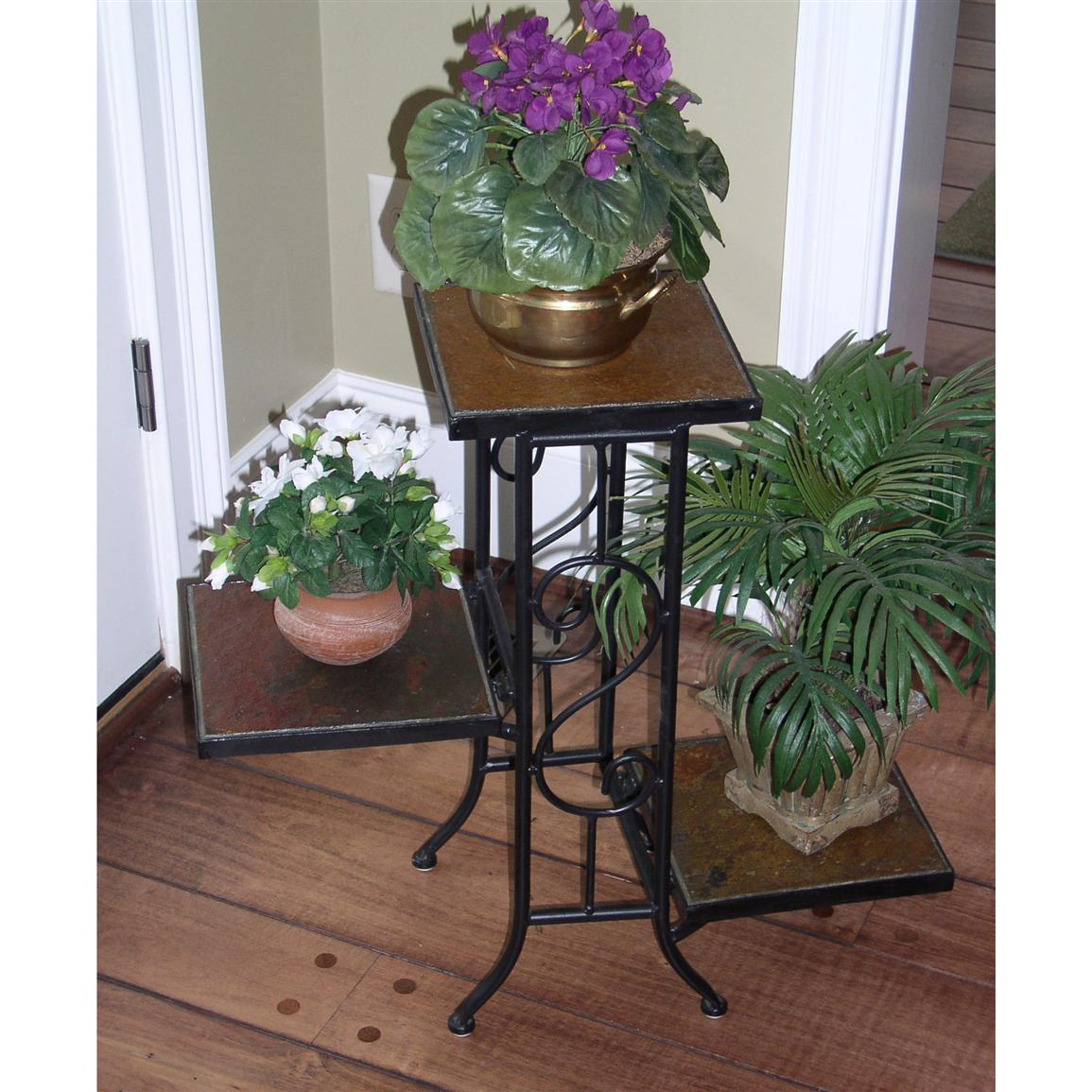 4D Concepts 3-tier Plant Stand with Slate Top
