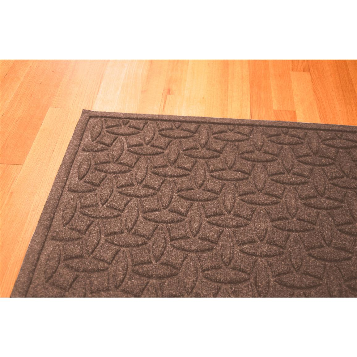 Water Trap Ellipse Commercial Grade Mat, Medium Brown