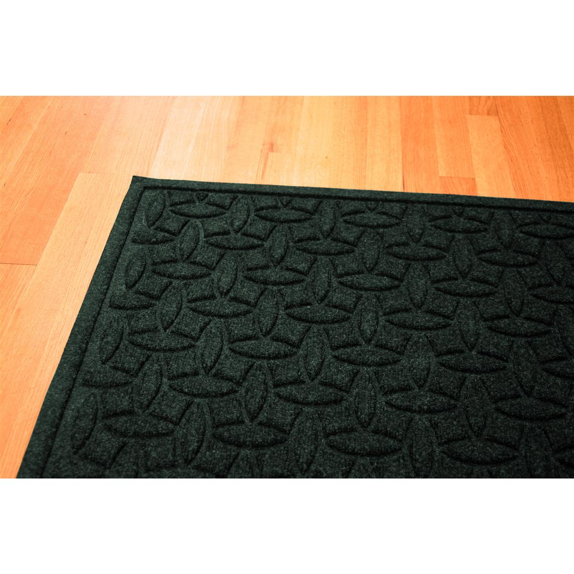 Water Trap Ellipse Commercial Grade Mat, Evergreen