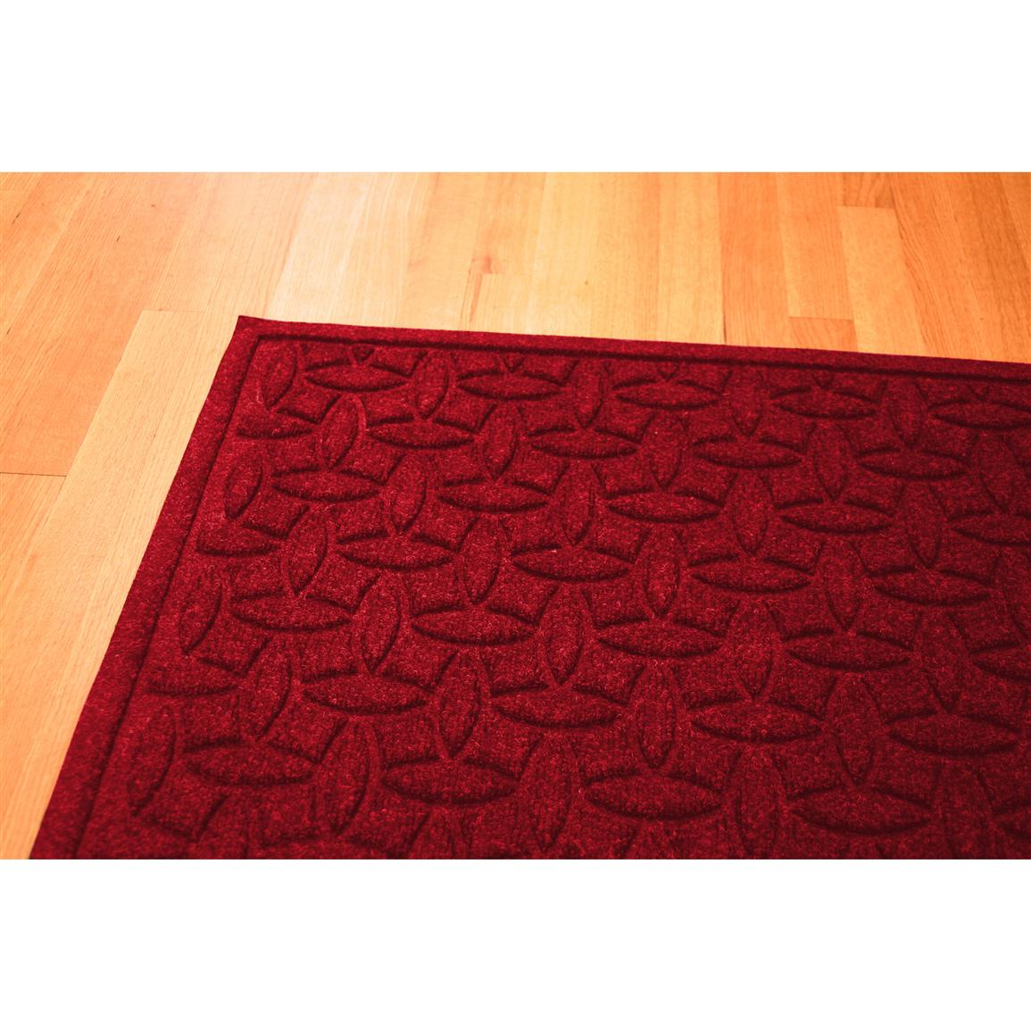 Water Trap Ellipse Commercial Grade Mat, Red