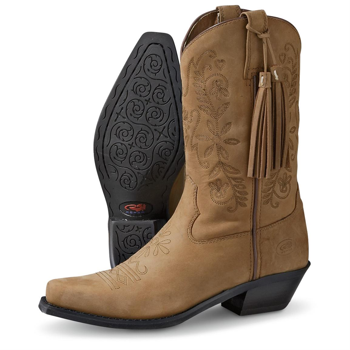 Fantastic Shyanne Womenu2019s 11u201d Brown Western Boots - Square Toe - Country Outfitter