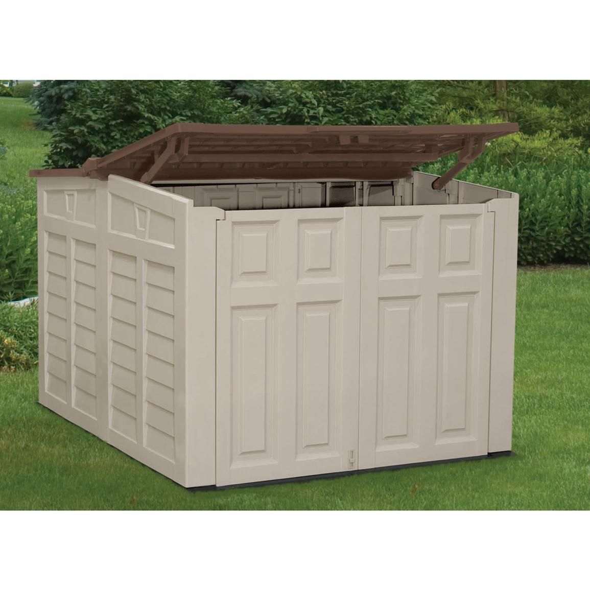 Suncast 174 Low Profile Shed 138475 Patio Storage At