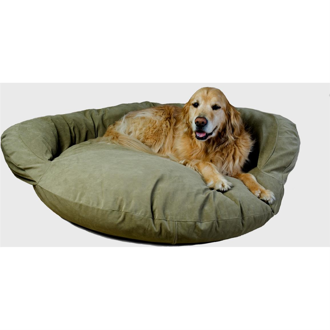 Carolina Pet Co. Microfiber Bolster Bed, Sage