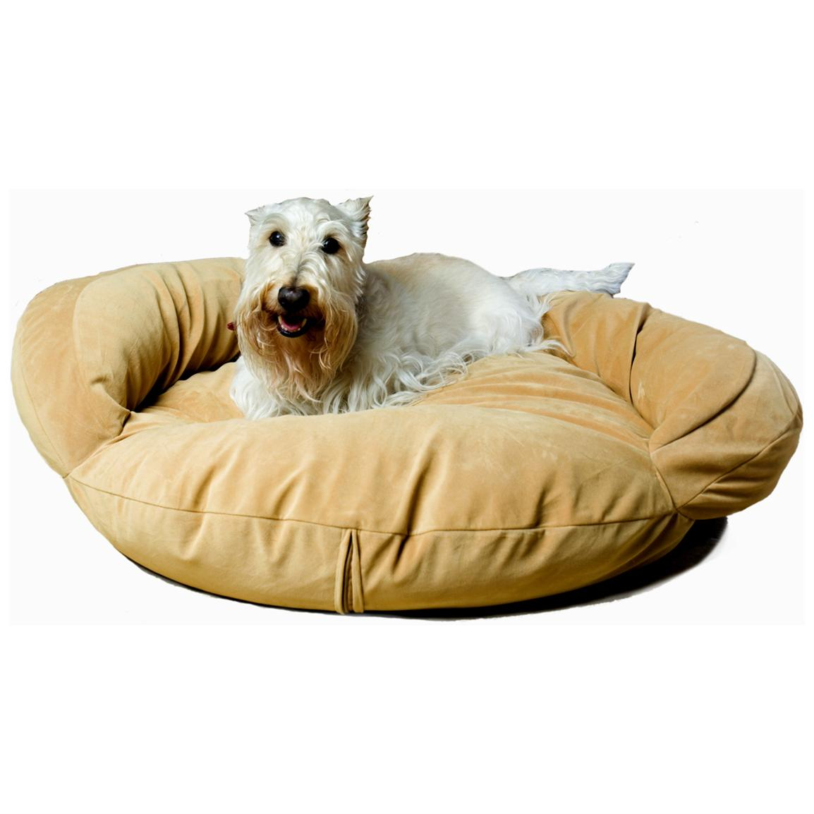Carolina Pet Co. Microfiber Bolster Bed, Caramel