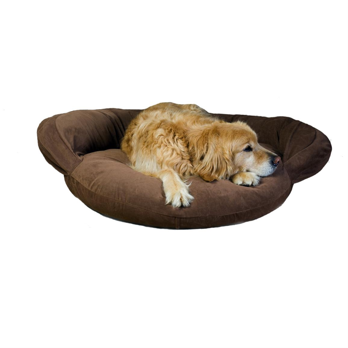 Carolina Pet Co. Microfiber Bolster Bed, Brown