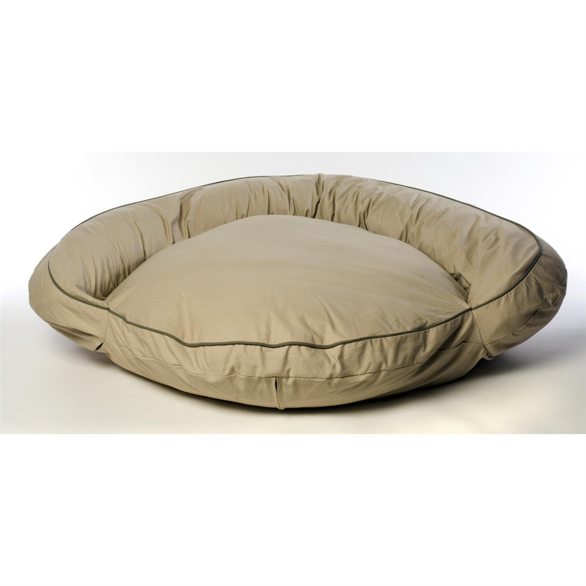 Carolina Pet Co.® Classic Twill Bolster Bed, Khaki