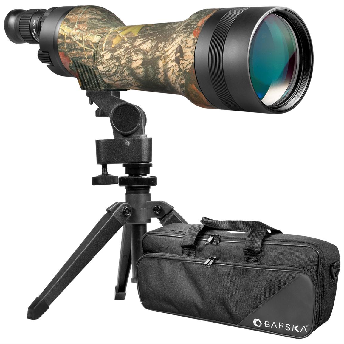 Barska 22-66x80mm Waterproof Spotter Pro Camo Spotting Scope