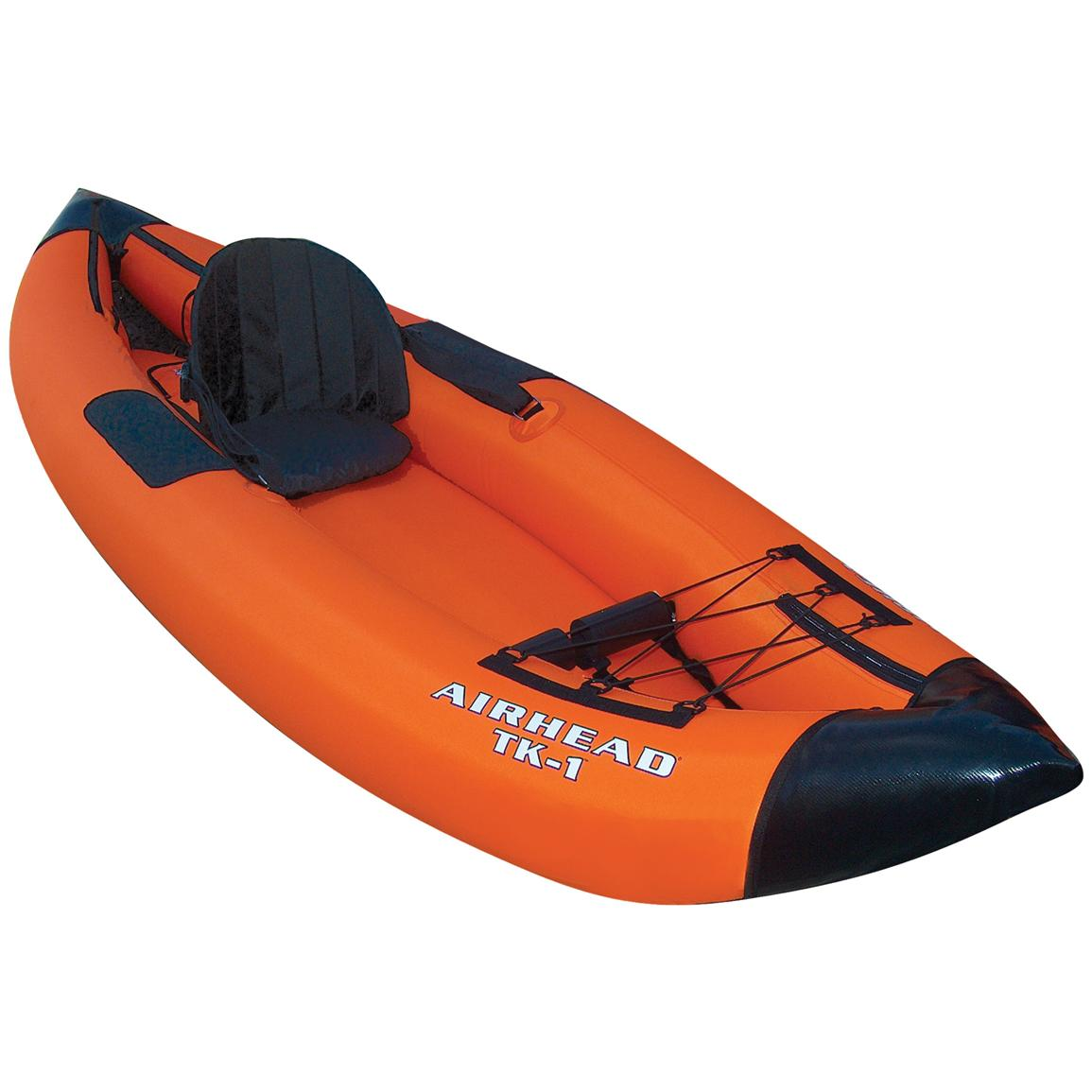 Airhead Deluxe Inflatable Travel Kayak, 1-person