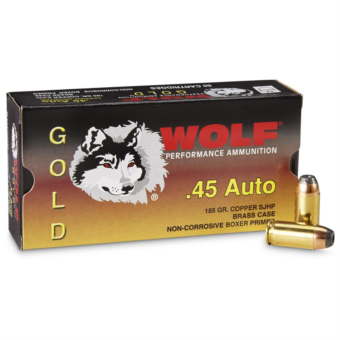 Wolf® .45 Auto 185 Grain HP 50 Rounds