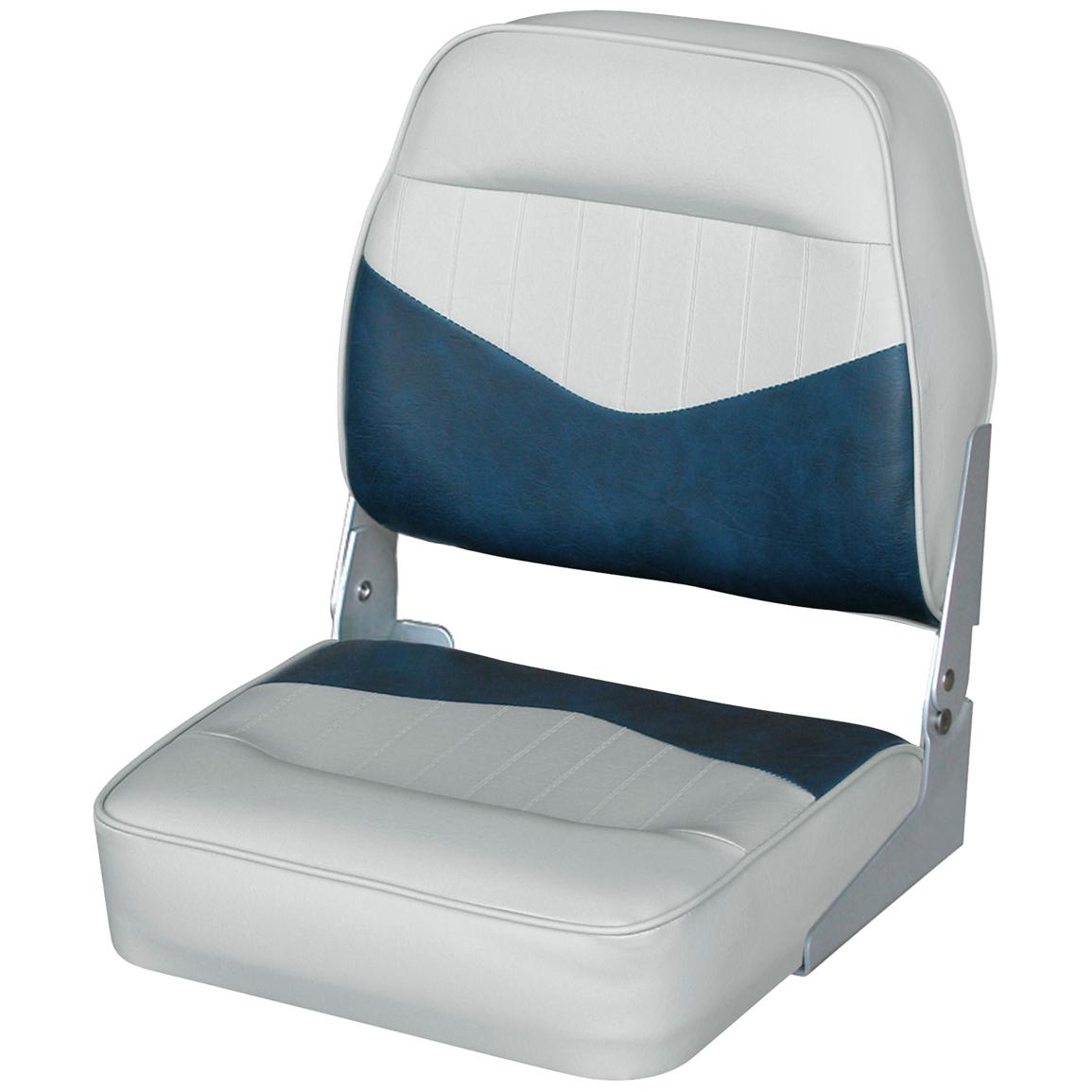 Wise® Low Back Fishing Chair, Grey / Navy