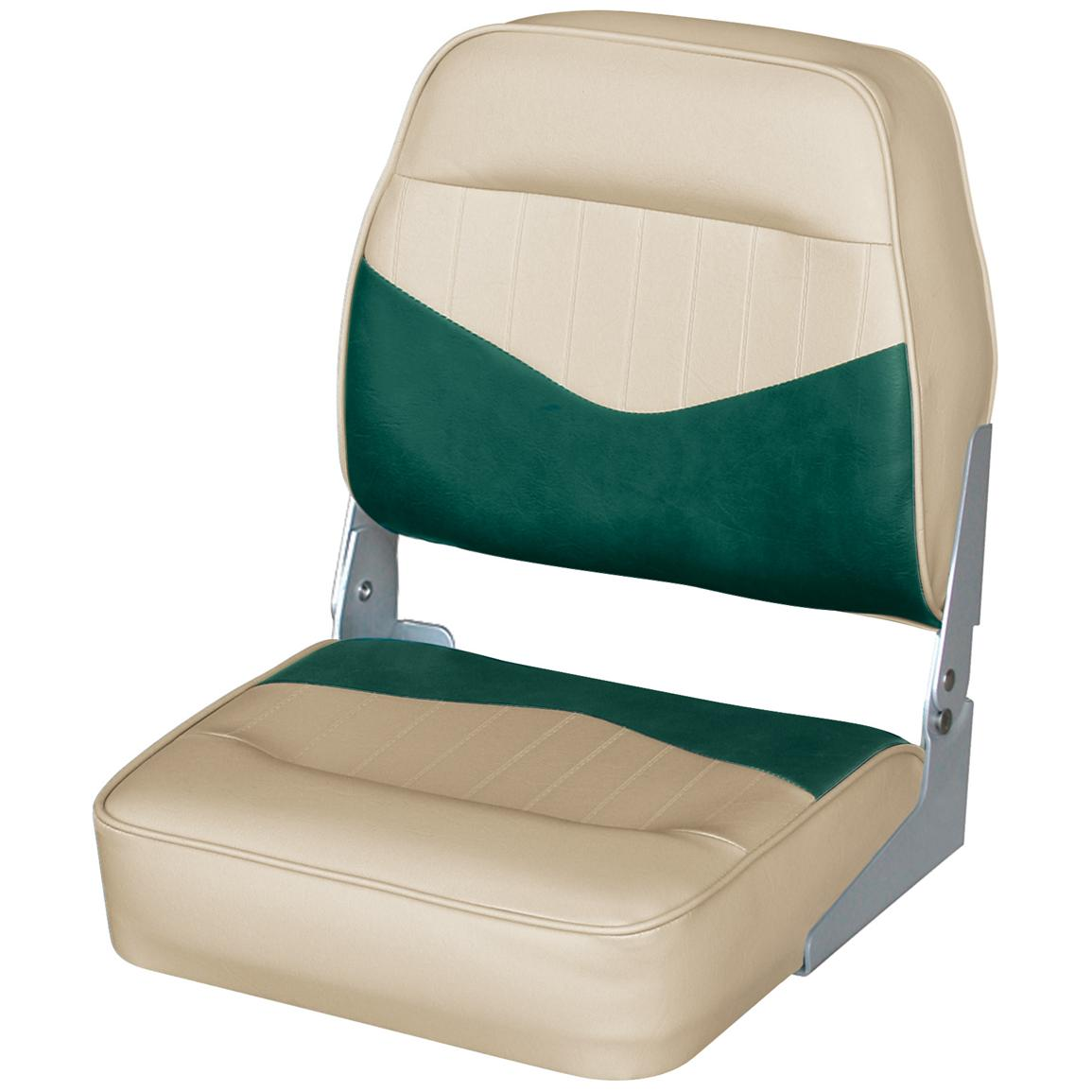 Wise® Low Back Fishing Chair, Khaki / Evergreen