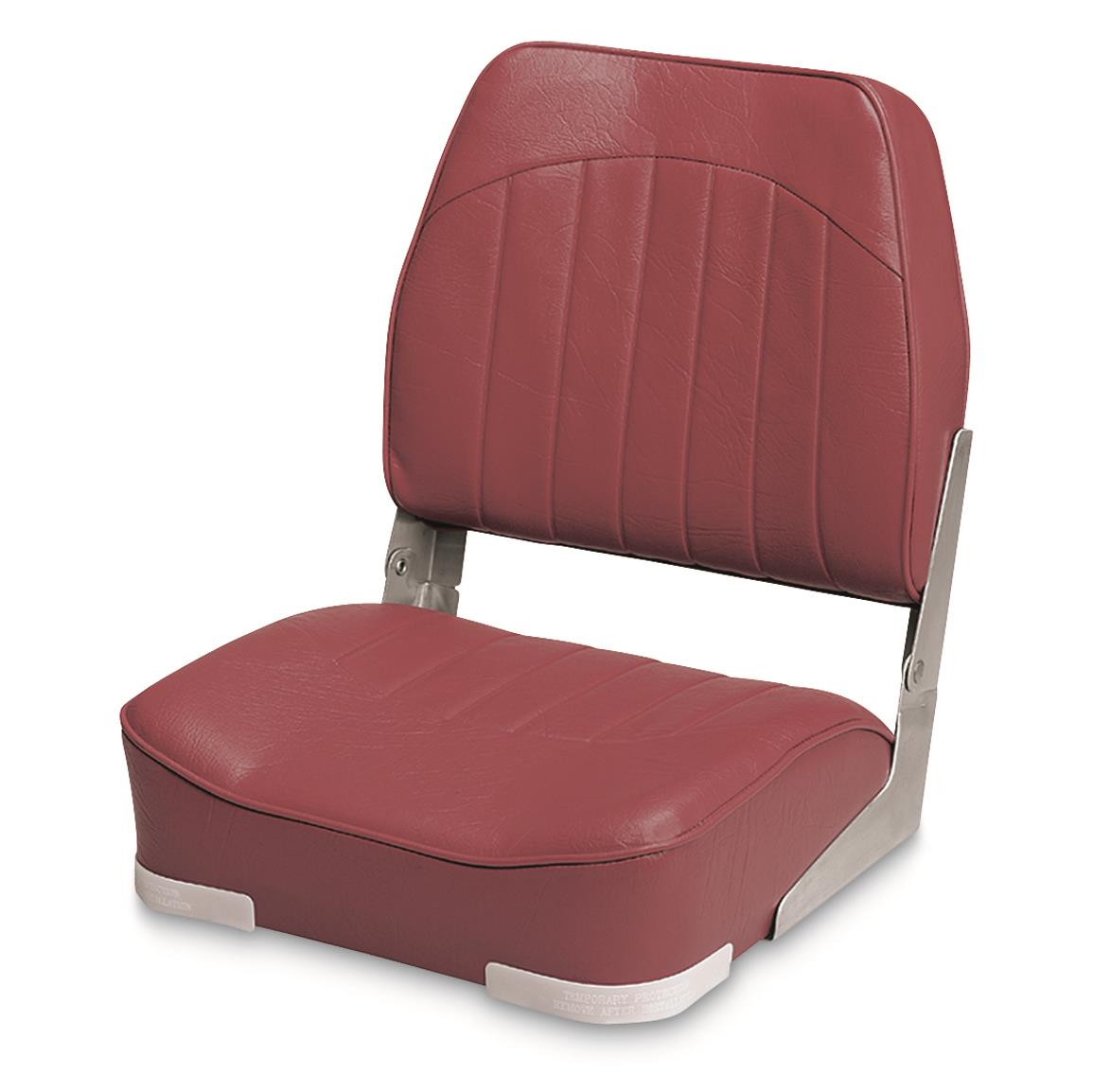 Wise Low - back Economy Fishing Boat Seat, Red