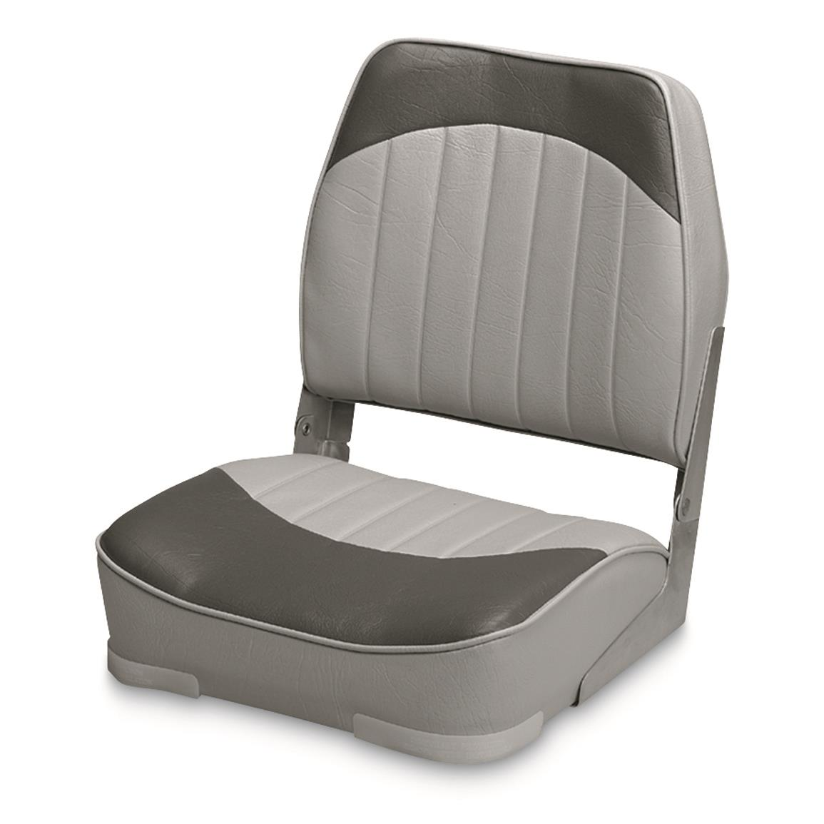 Wise Low - back Economy Fishing Boat Seat, Gray/Charcoal