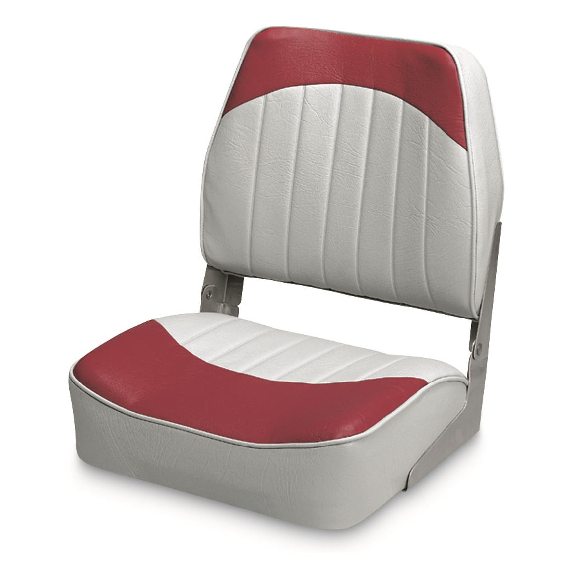 Wise Low - back Economy Fishing Boat Seat, Gray/Red