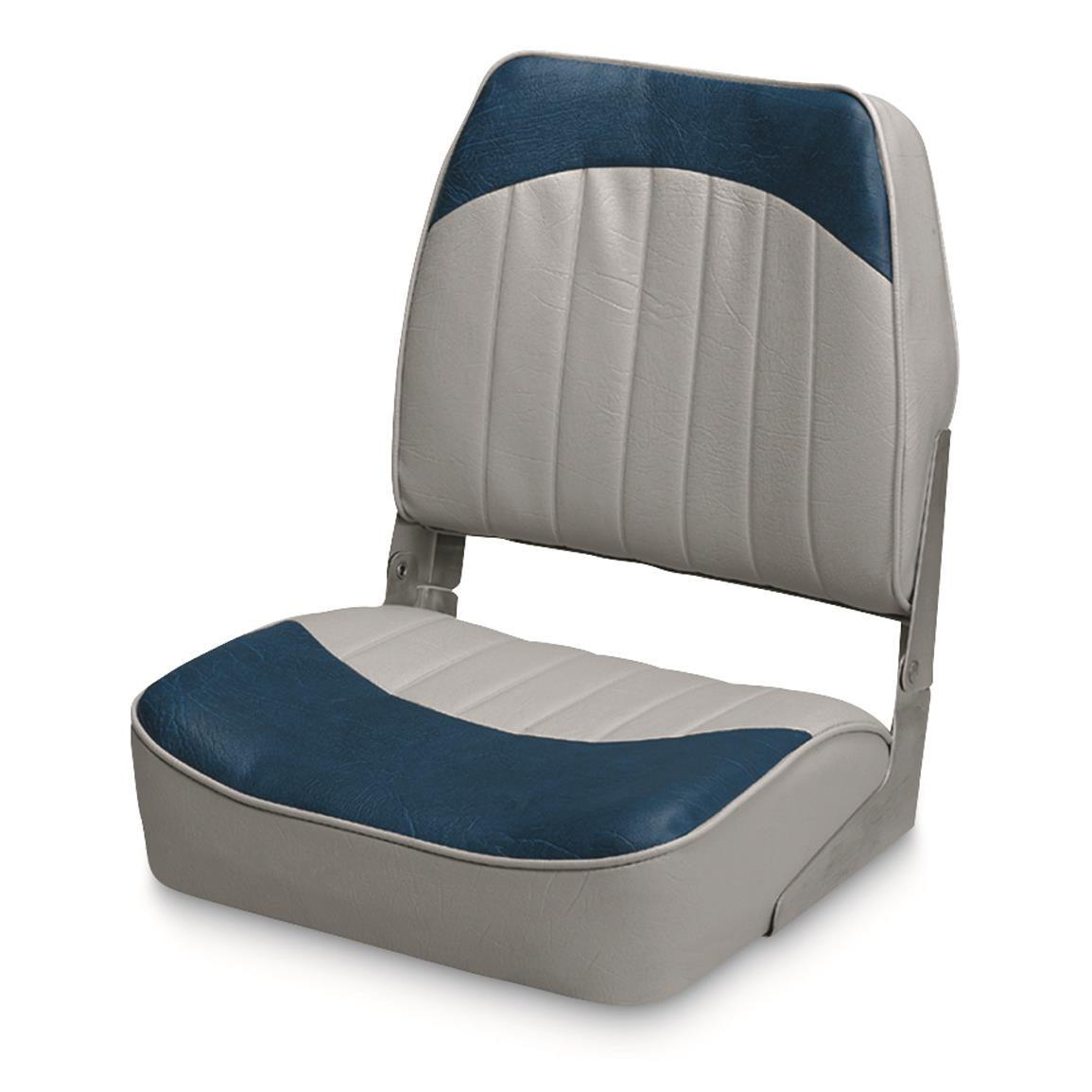 Wise Low - back Economy Fishing Boat Seat, Gray/Navy