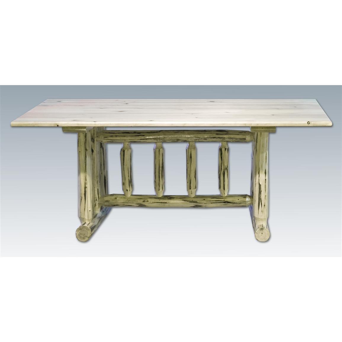 Montana Woodworks Trestle-Base Dining Table