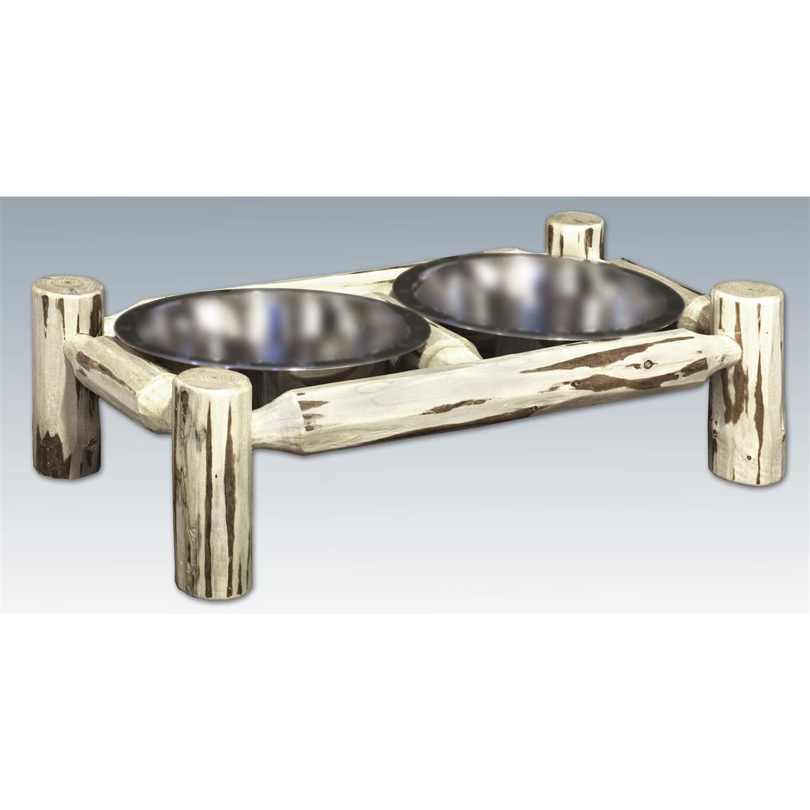 Montana Woodworks Rustic Dog Feeder