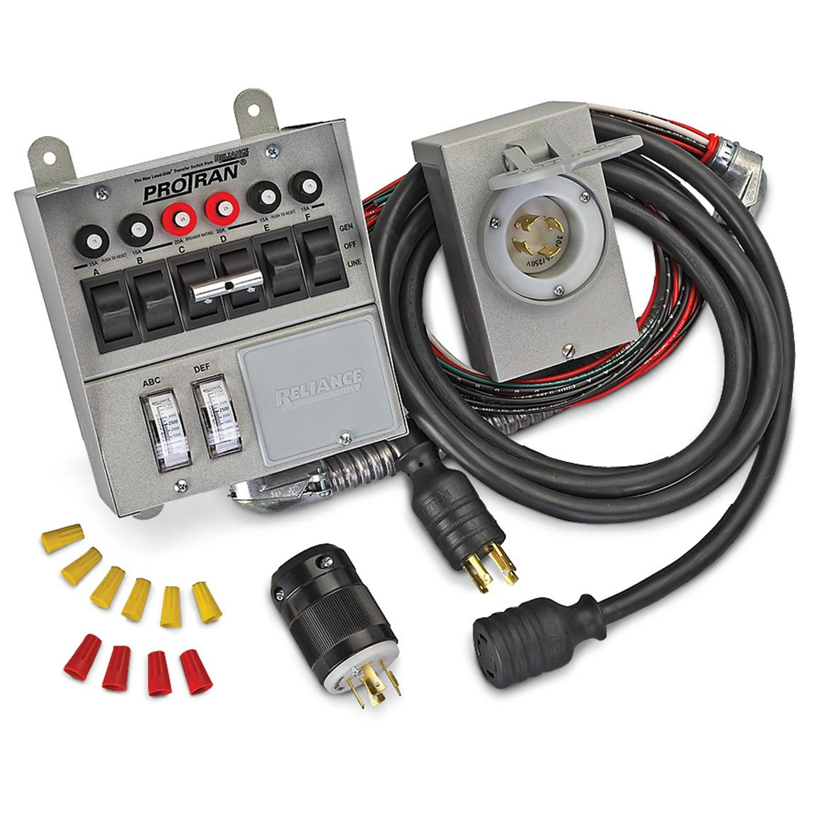 Reliance 6-circuit Transfer Switch Kit
