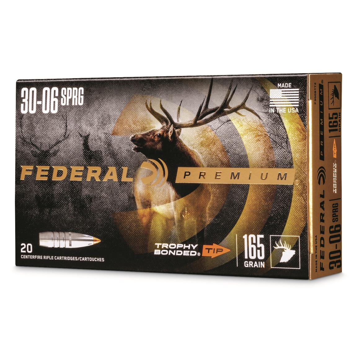 Federal, .30-06 Springfield, TBT, 165 Grain, 20 Rounds