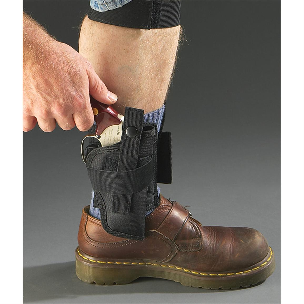 Python® Ankle Holster with Calf Strap, Black