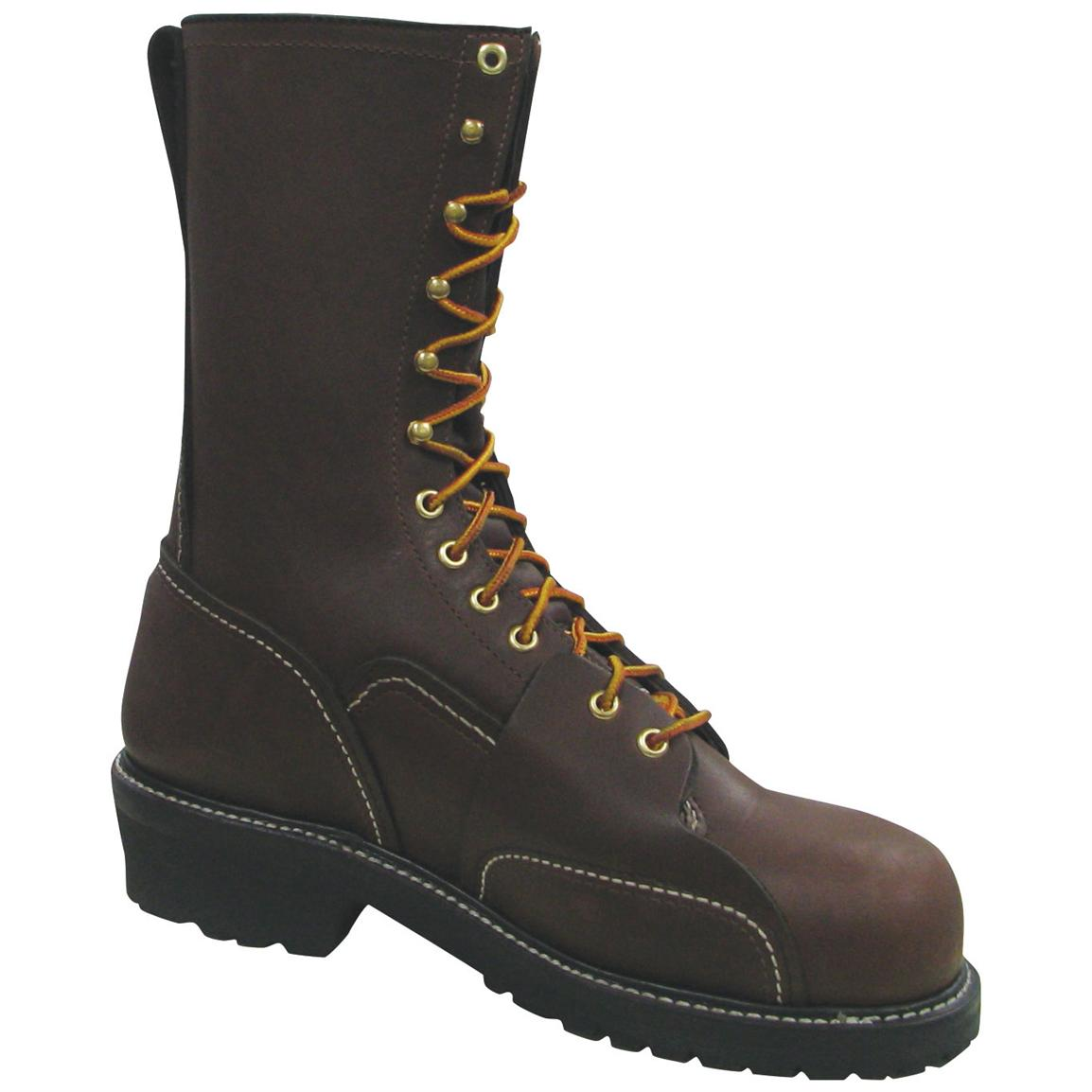 "Men's Thorogood® 10"" Linesman Composite Safety Toe Work Boots"