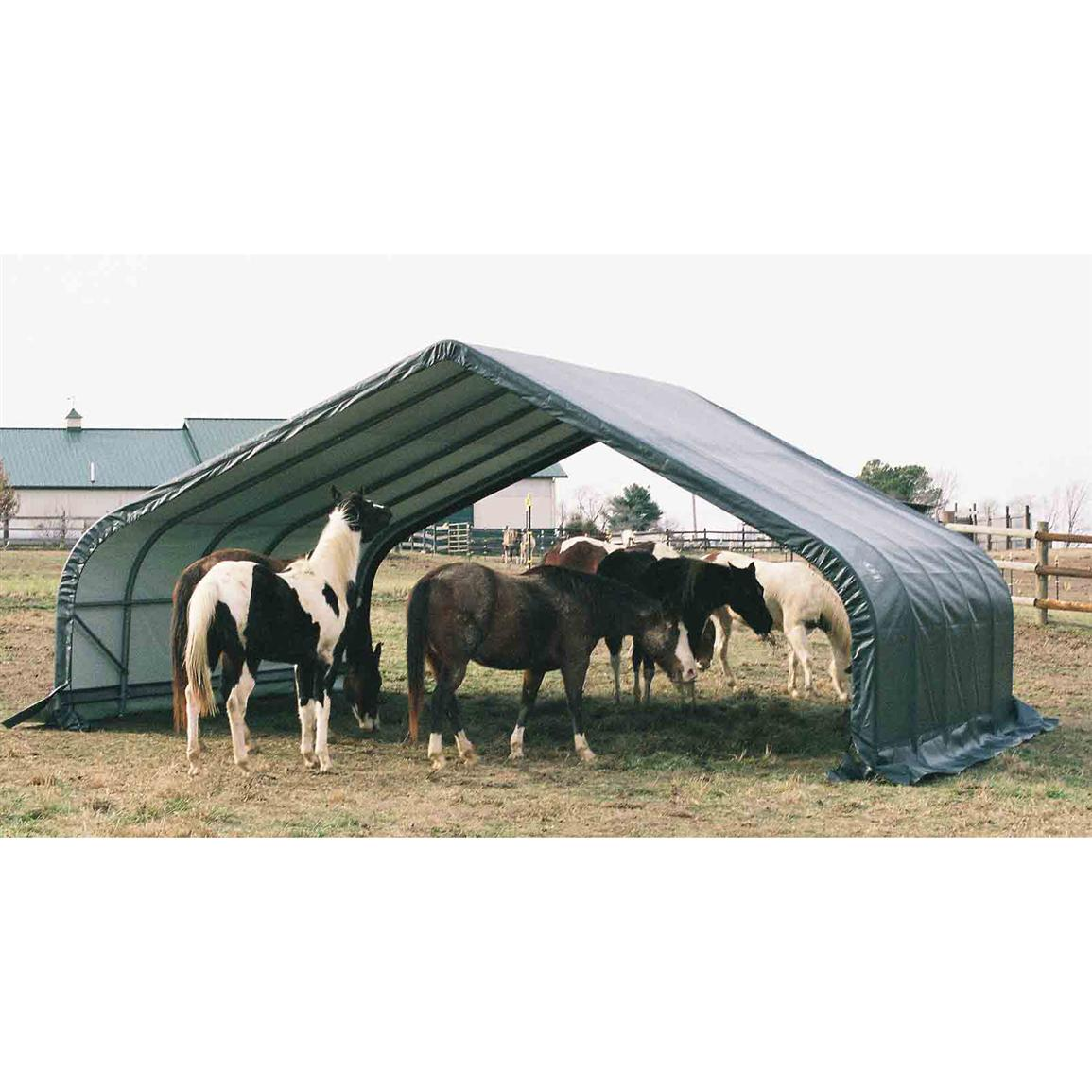 Shelter Logic™ 22x24x12' Equine Run-In Shelter