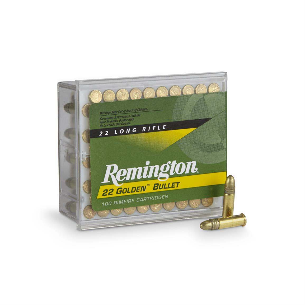 100 rounds Remington Golden Bullet .22LR High-Velocity RN Ammo