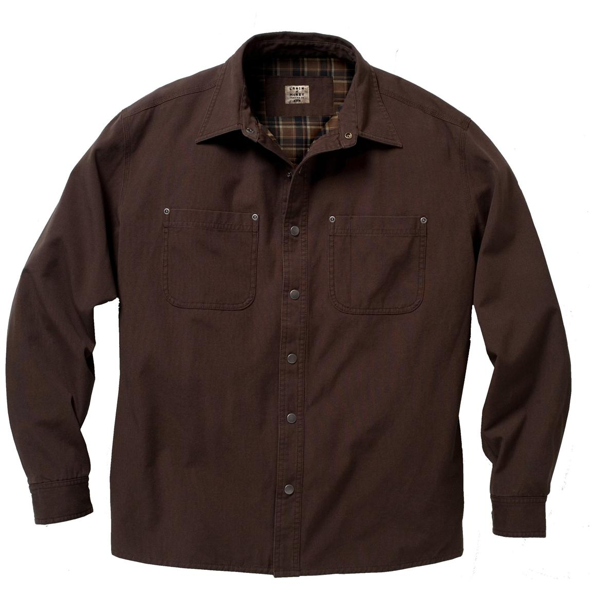 Regular or Tall Lakin-McKey Men's Flannel Lined Shirt Jacket