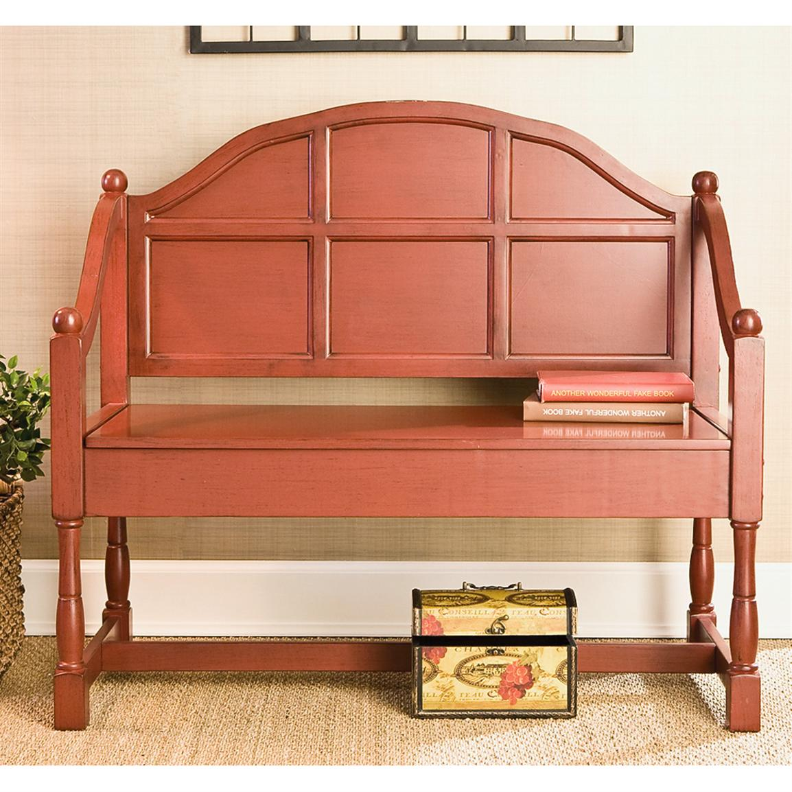 Cottage Style Storage Bench 143907 Living Room At