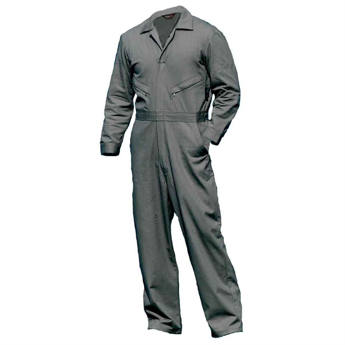 Walls Flame Resistant Industrial Coveralls, Grey