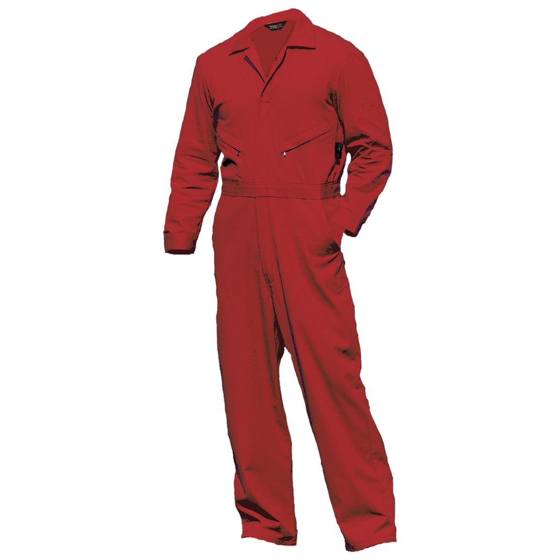 Walls Flame Resistant Industrial Coveralls, Red