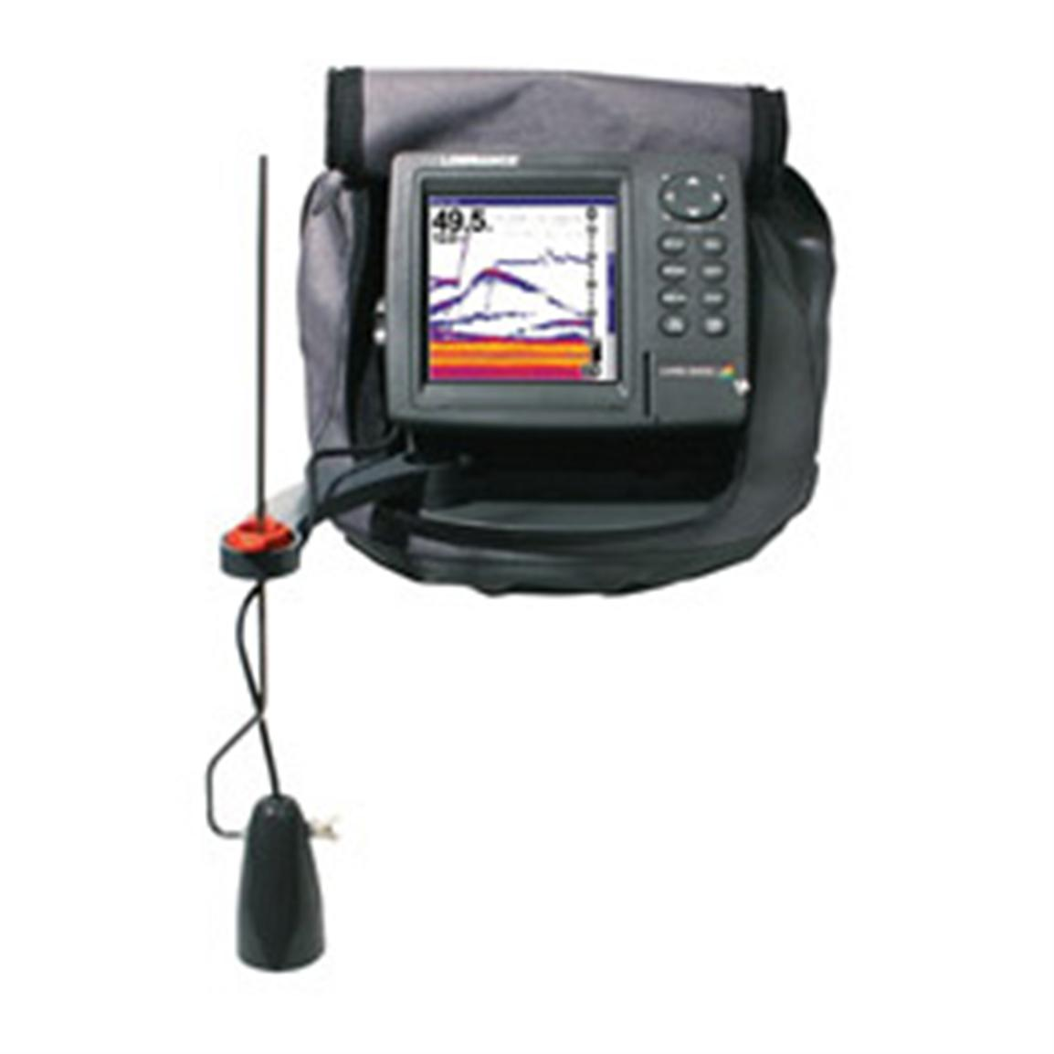 Lowrance lms 522c icemachine soar gps plotter for Ice fishing electronics