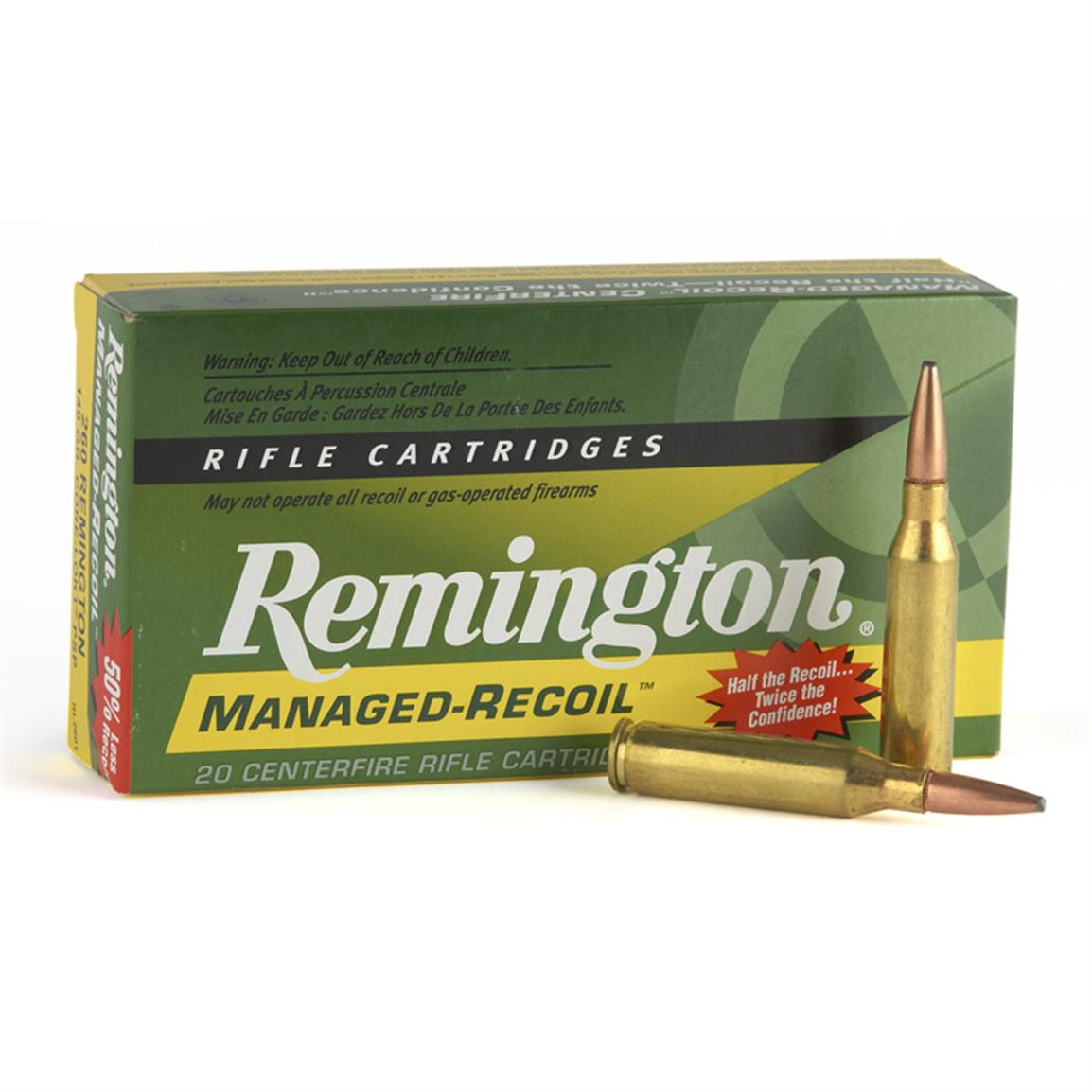 Remington Managed Recoil, 7mm Remington Magnum, Core-Lokt PSP, 140 Grain, 20 Rounds