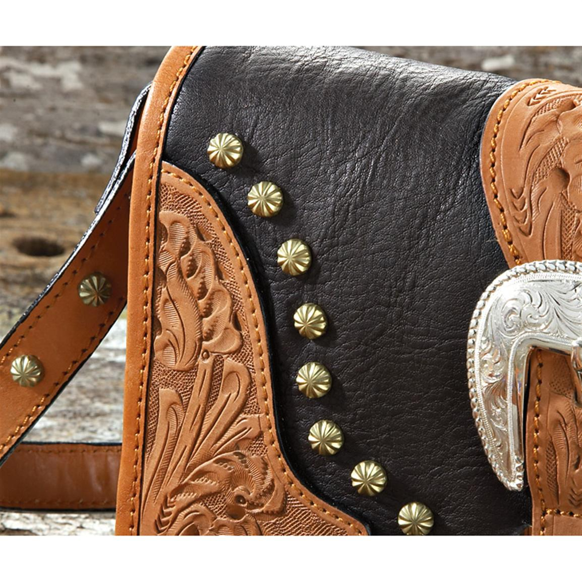 Hand Worked Leather Deluxe Hardware Montana Silversmiths