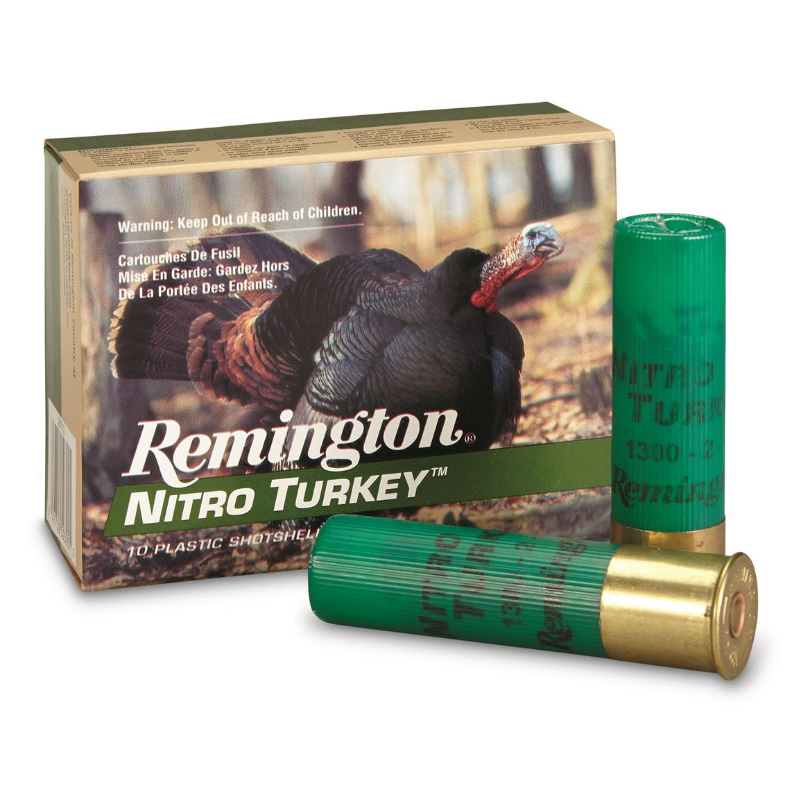 "Remington, Nitro Turkey, 12 Gauge, Magnum Copper-plated Buffered Turkey Load, 3 1/2"", 10 Rounds"
