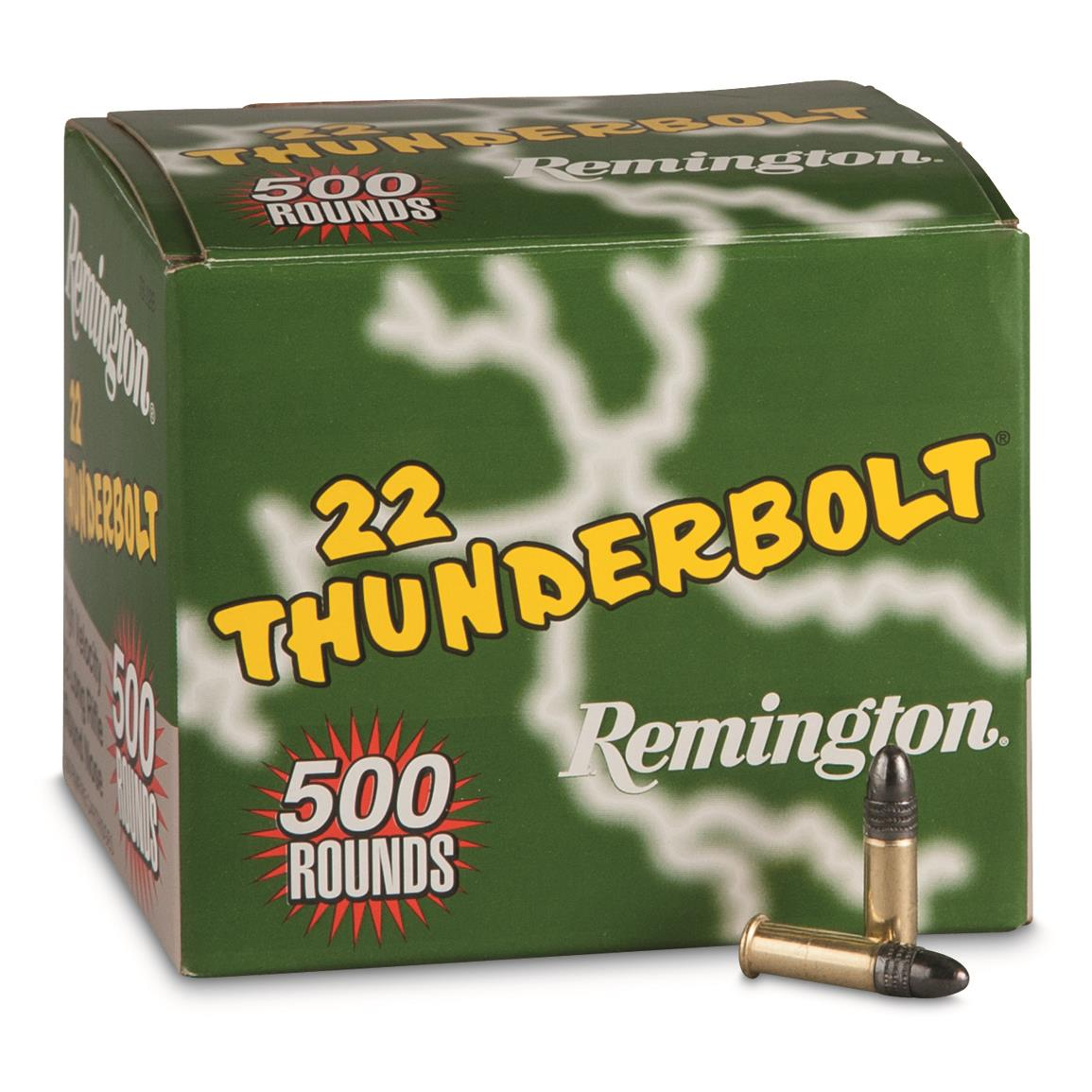 remington thunderbolt 22lr lrn 40 grain 500 rounds 144422
