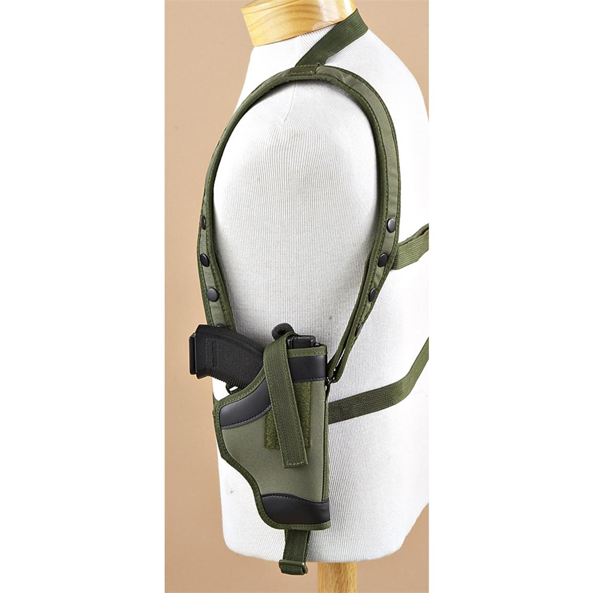 Large-frame Pistol Shoulder Holster, Olive Drab