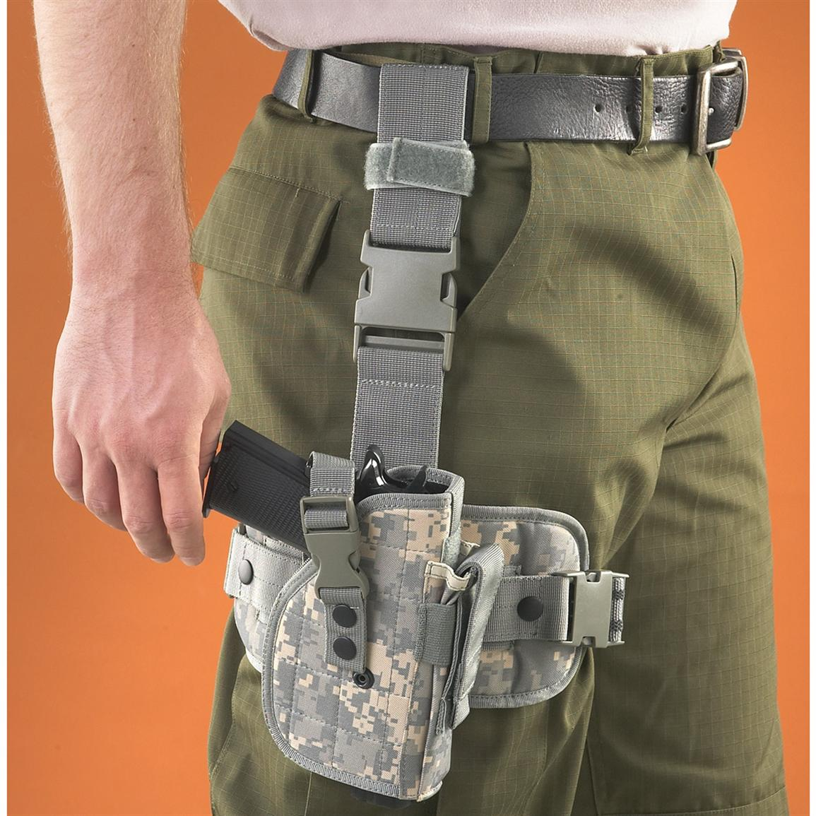 Fox Outdoors Military-Style Drop Leg Holster, Army Digital