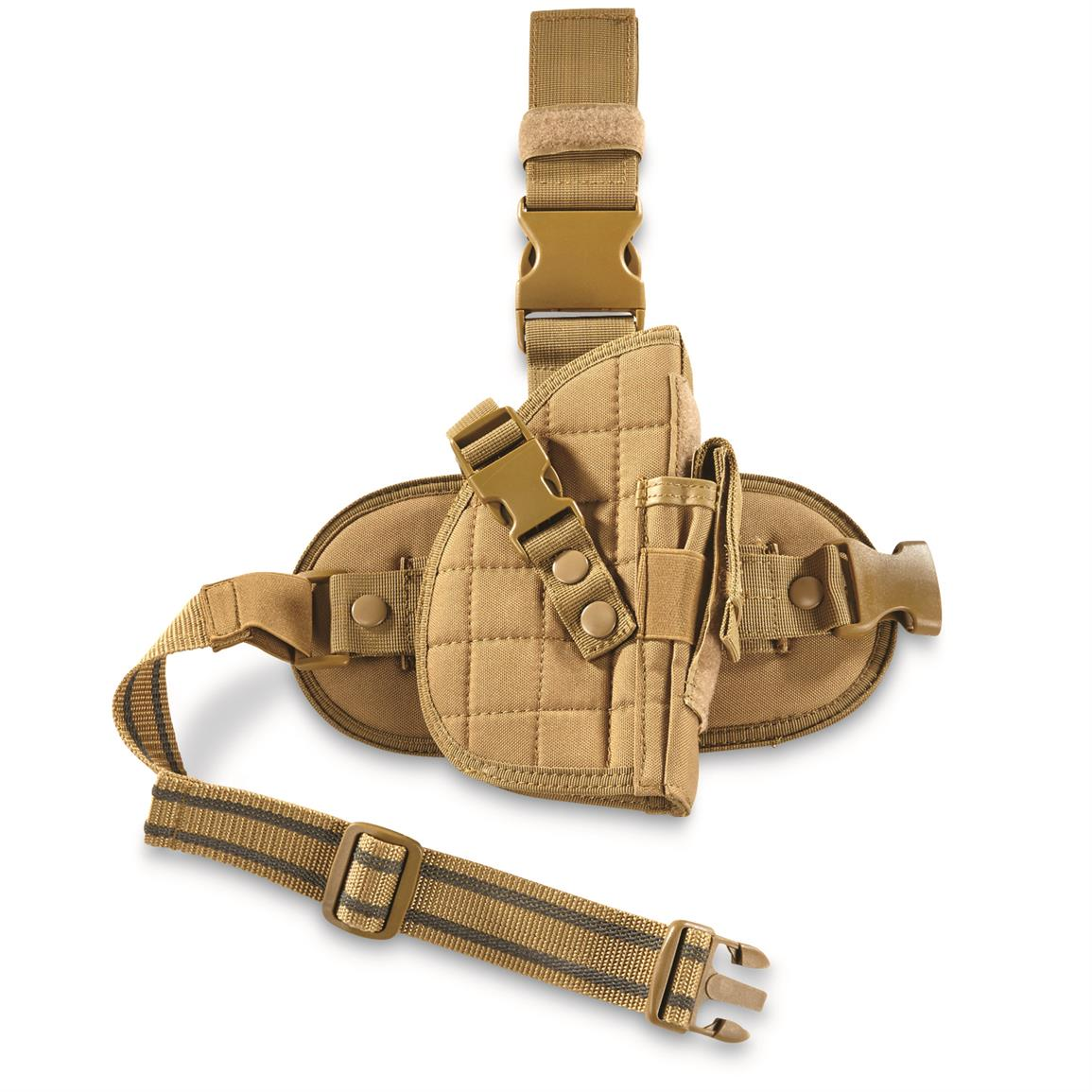 Fox Outdoors Military-Style Drop Leg Holster, Coyote Tan