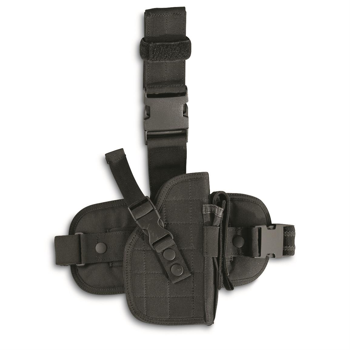 Fox Outdoors Military-Style Drop Leg Holster, Black