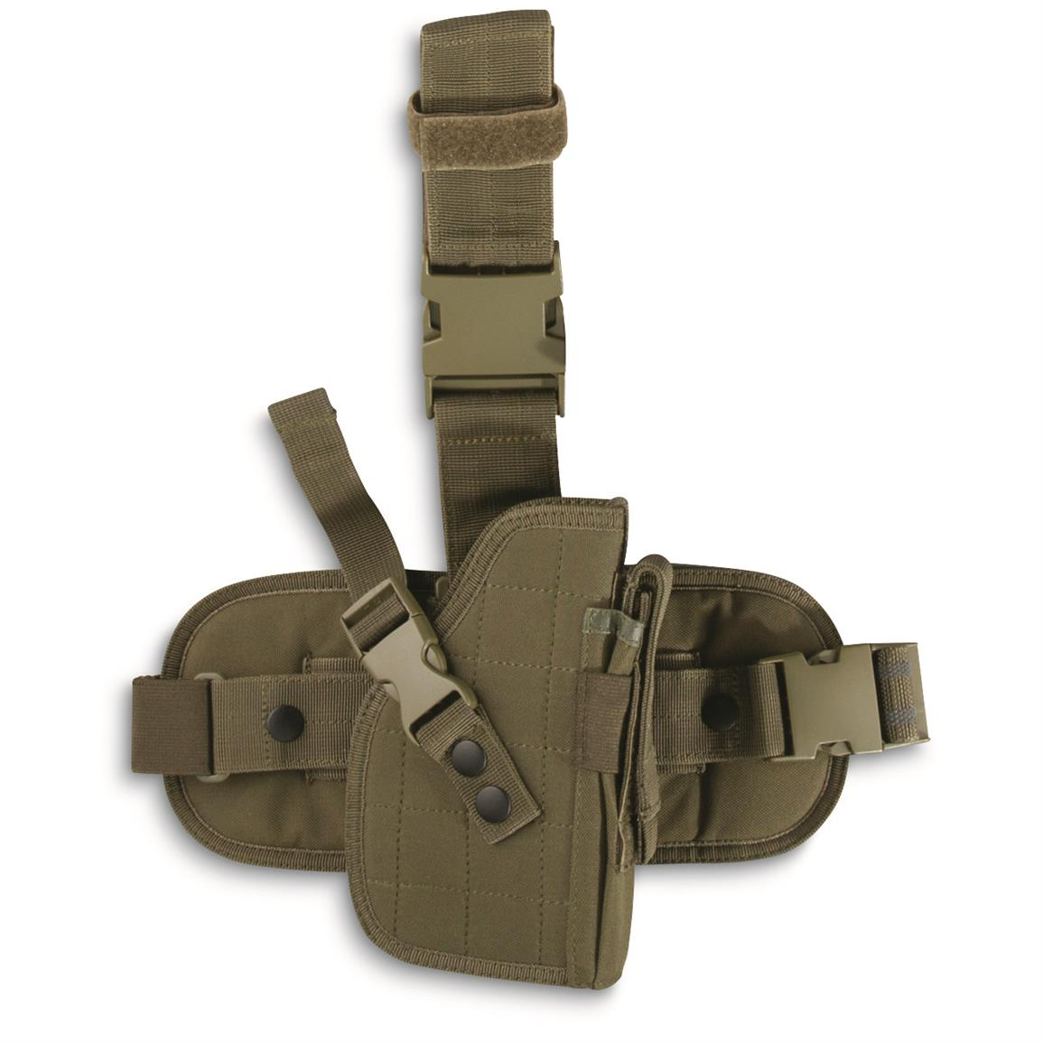 Fox Outdoors Military-Style Drop Leg Holster, Olive Drab