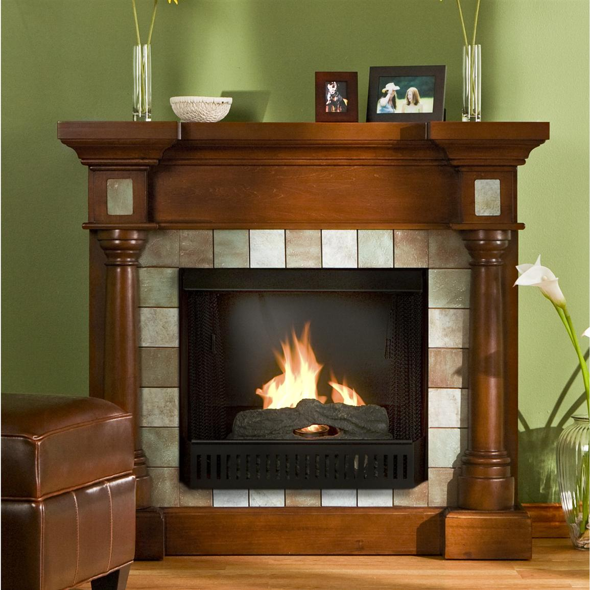 Southern Enterprises Inc Slate Gel Fuel Fireplace 145319 Fireplaces At Sportsman 39 S Guide