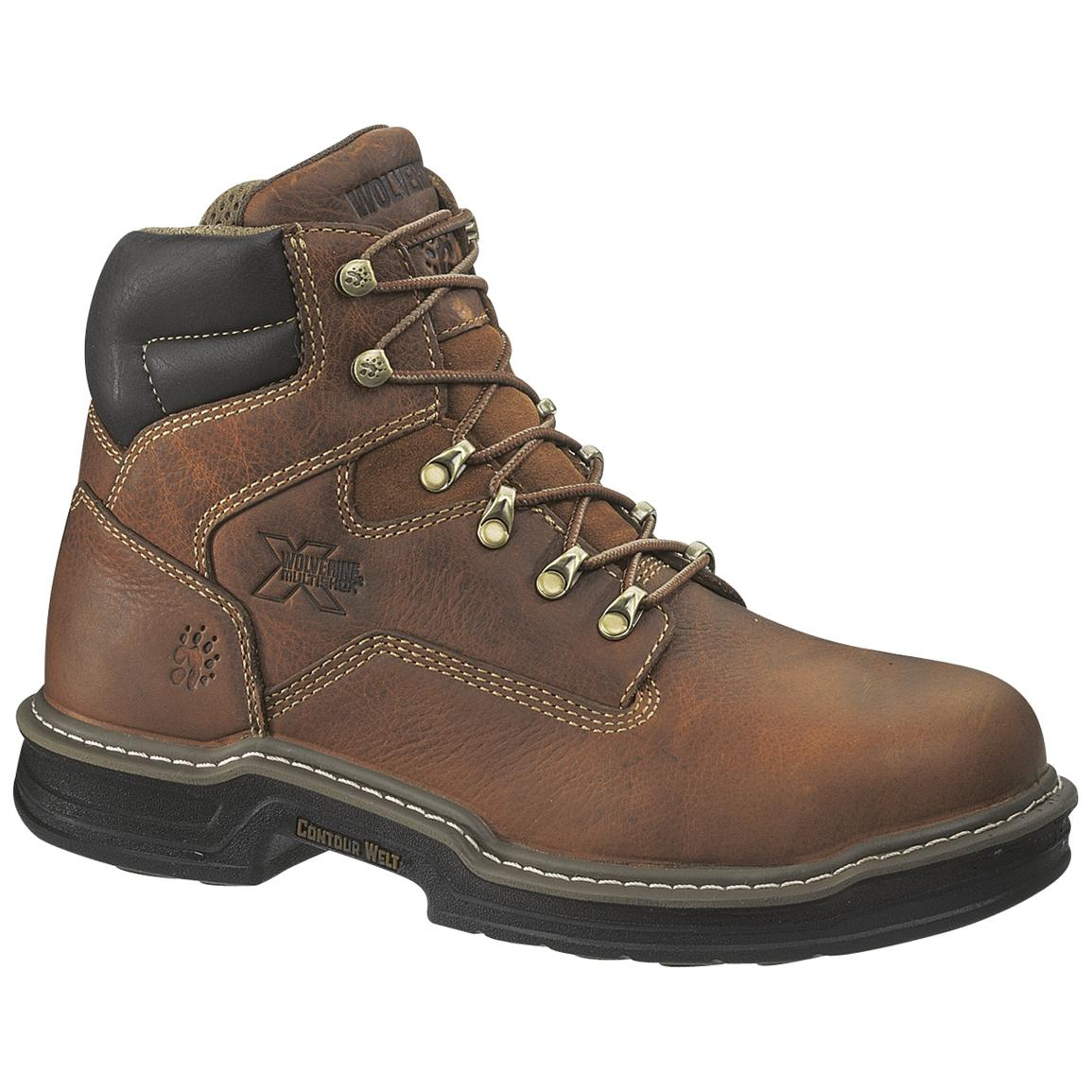wolverine 174 s 6 quot multishox steel toe boots