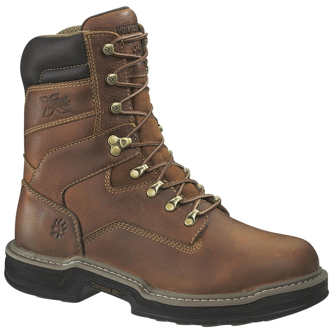 "Wolverine Men's Raider 8"" MultiShox Boots, Brown"