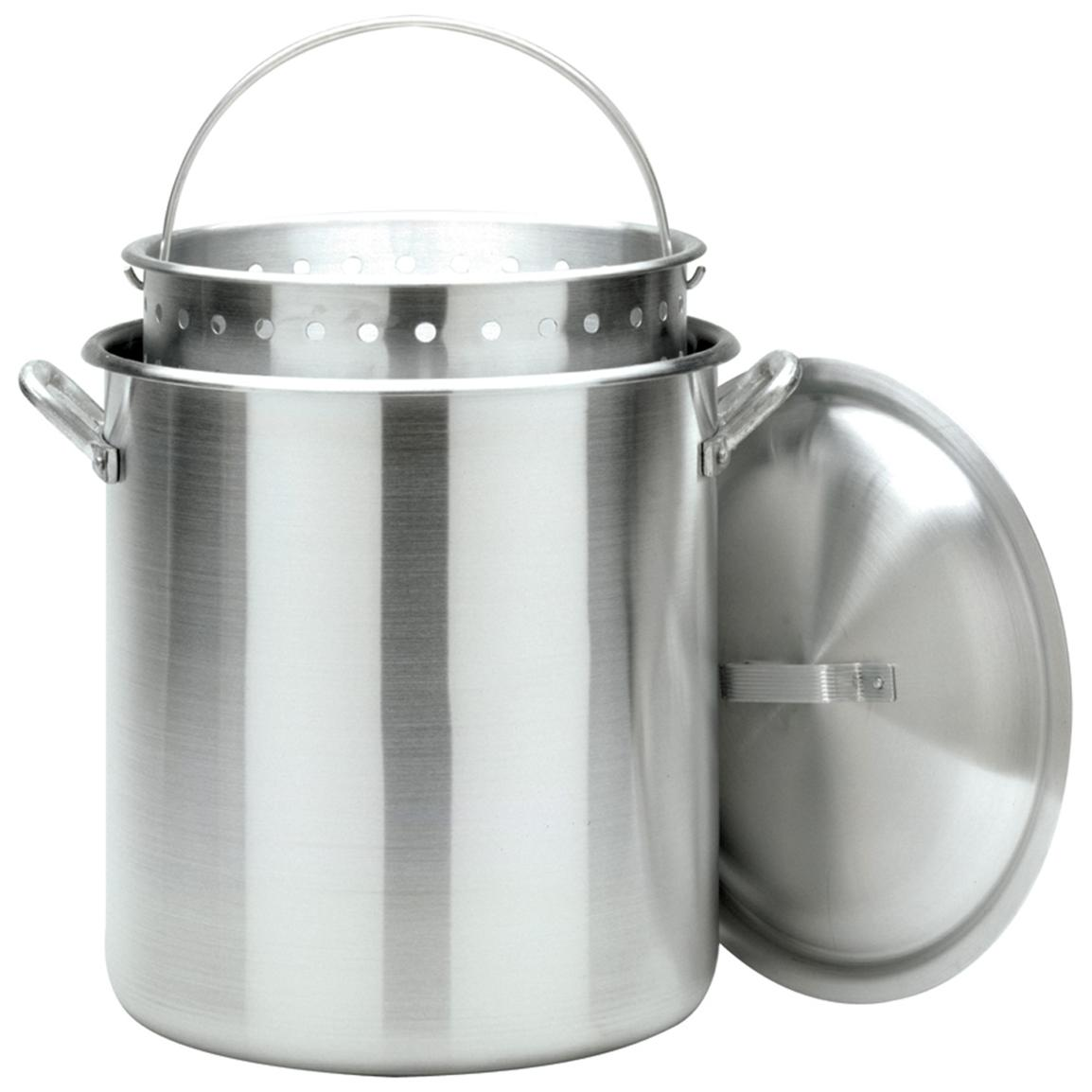 Bayou Classic 160-qt. StockPot with Lid and Basket