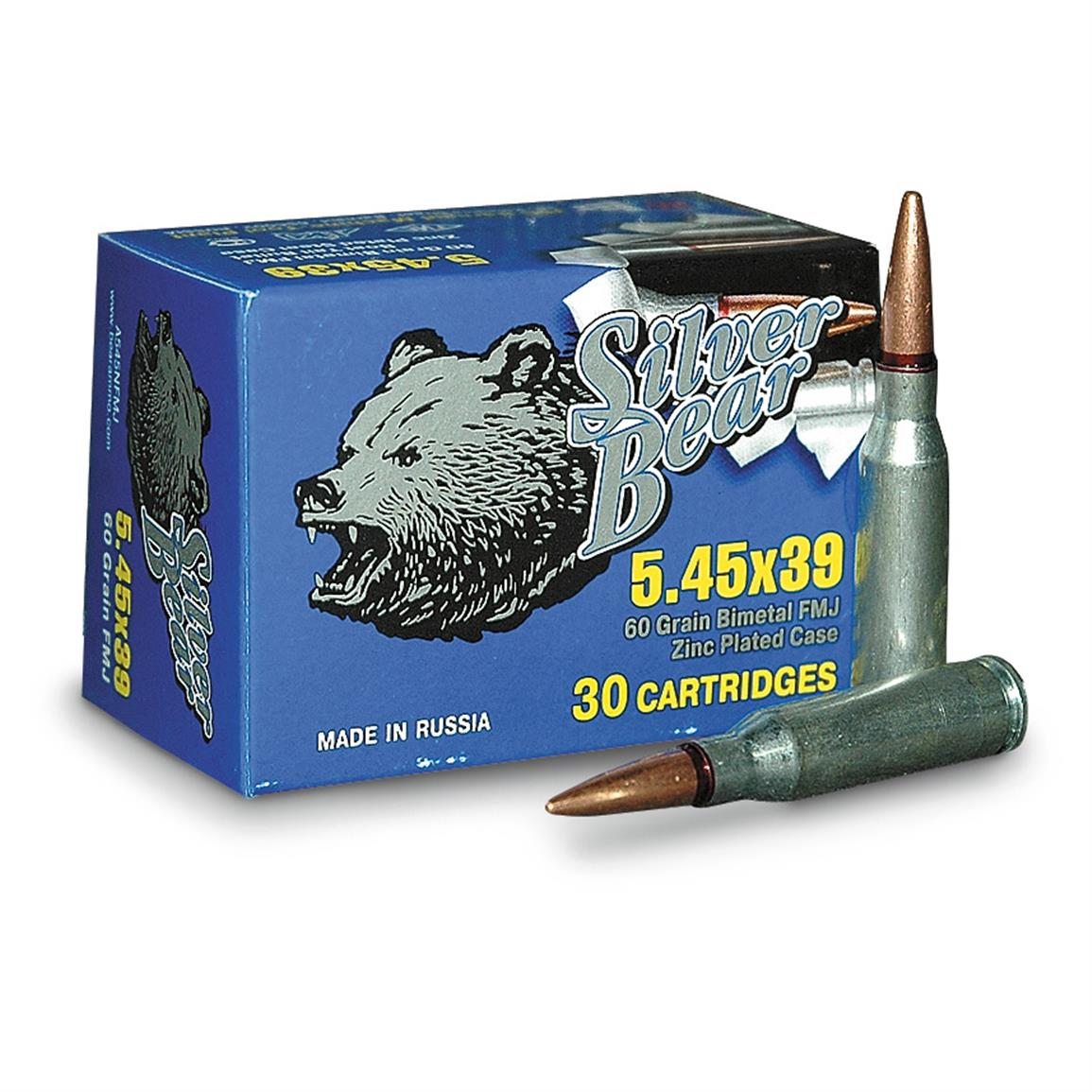 Silver Bear, 5.45x39mm, FMJ, 60 Grain, 750 Rounds