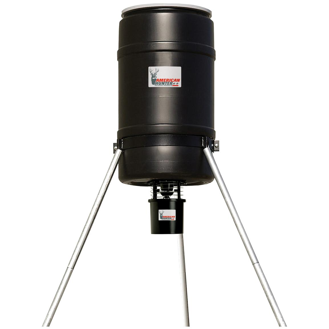 American Hunter 225-lb. Tripod Feeder with RD-Kit Pro and Varmint Buster